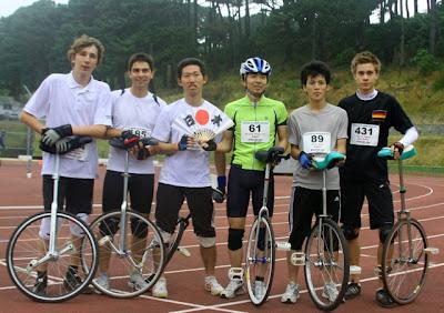 Einrad WM 2010 Einrad Rennen 100m Finale