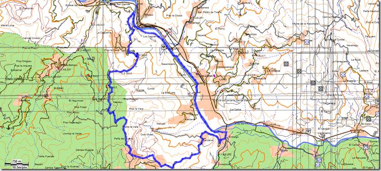 mapa La Vara