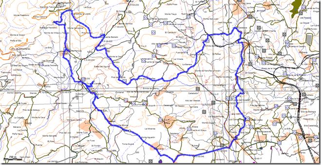 Mapa de la Ruta  Llanera