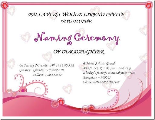 Kannada Naming Ceremony Invitation Futureclim Info