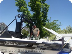 getting the boat ready