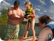 Katey waterskiing 1st time 2010