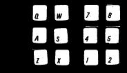Alt+Q,A,Z,W,S,X