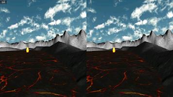 Screenshot of Durovis Dive Volcano VR Demo