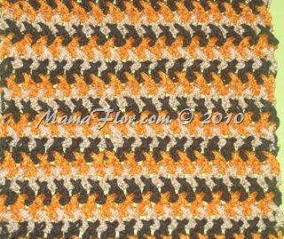 Diseño a Crochet: Punto entero Cruzado