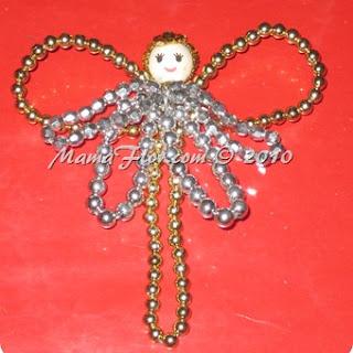 Angelito de Perlas para el Arbol Navideño