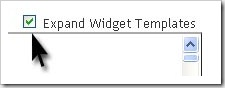 Expand Widget Template-