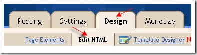 edit html in blogspot