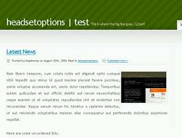 Nonzero Green Free Wordpress Theme »  UA:F [1.2.3_620]