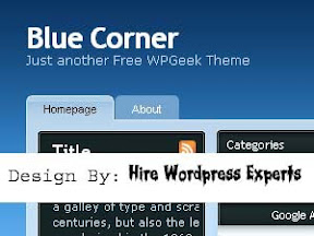 Blue Corner Free Wordpress Theme