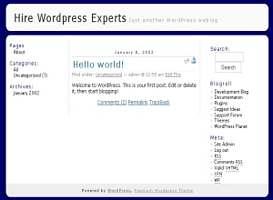 Blue Radiant 04 Free Wordpress Theme