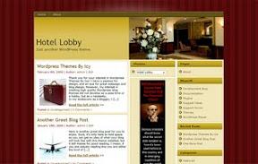 Hotel Lobby - Burgundy