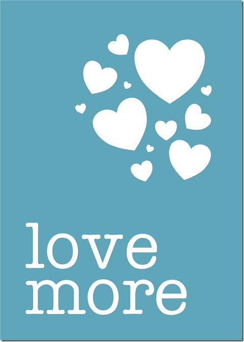 Love More - blue - Sprik Space