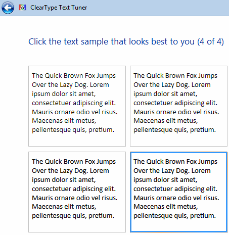 ClearTypeTuner