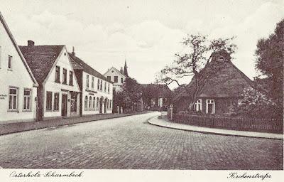 Marktstraße in Scharmbeck ca. 1920