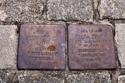 Stolpersteine für Flora und Alfred Cohen in der Nordstraße (ehemals Nr. 210) in Bremen