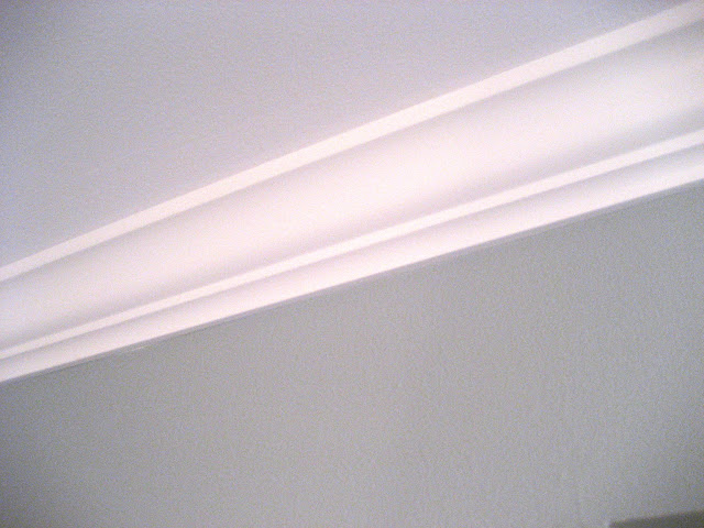 crown molding after caulk and paint