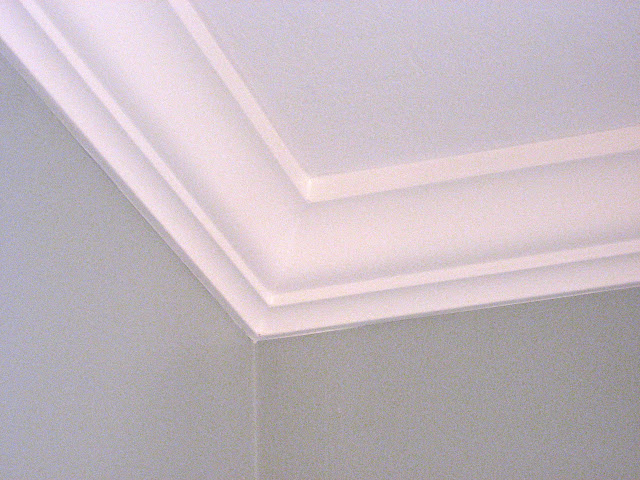 Crown corner after caulk and paint