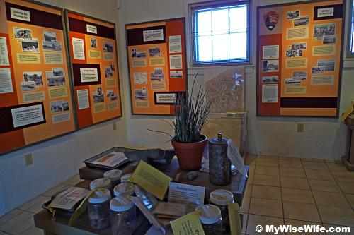 Exhibits at Castolon Visitor Center