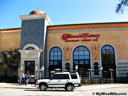 cheesecake factory. The Cheesecake Factory at