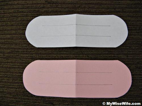 Step 1 - Prepare papers in this shape