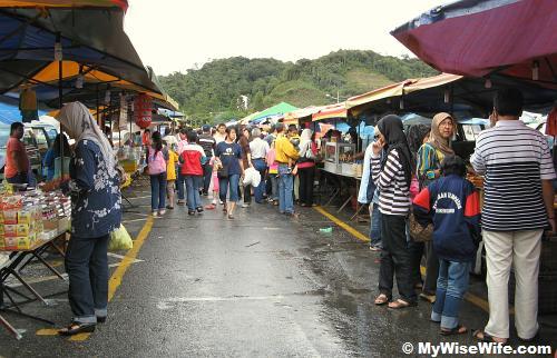 Stalls on both sides - food street