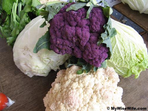 Voilet or Lavendar Cauliflower - one of its kind!