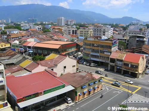 Aerial view - overlooking Penang Hill