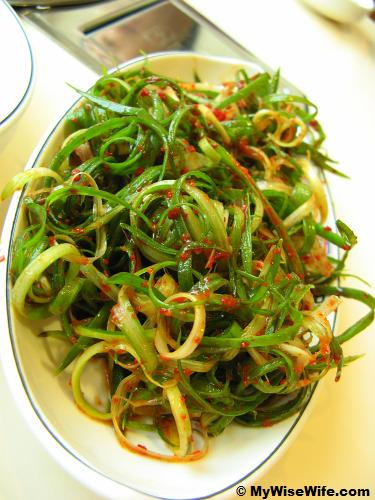 Pajori or spicy scallion salad