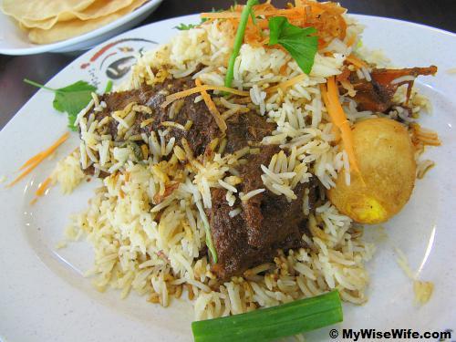 Briyani Gam Kaki Kambing (Goat leg)