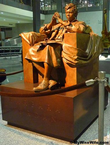 Barbara Jordan - a famous Texas politician from Houston