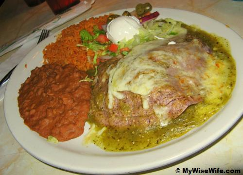 Chuy's Special with Mexican rice