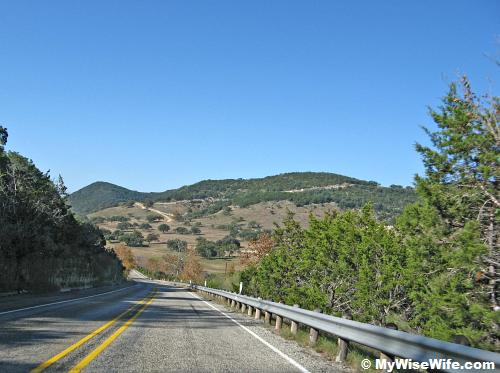 Scenic drive along Ranch Road 187 from Medina to Vanderpool