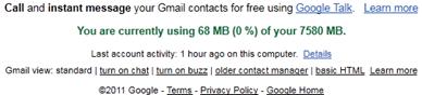 Gmail details