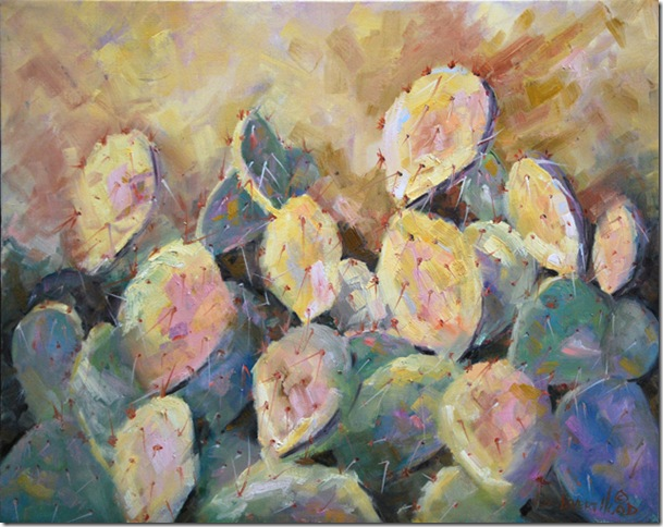 Prickly Pear, Oil, 16x20, Jean Levert Hood