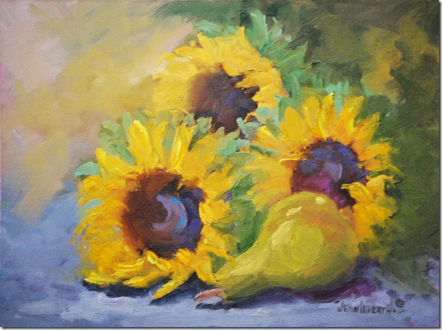 Sunflowers and Pear, Study resized
