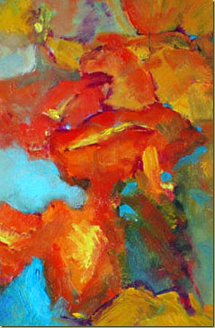 Abstract: Poppies Oil Painting