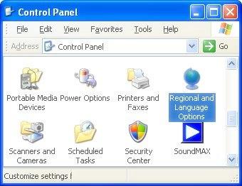 Windows XP's Control Panel