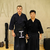 Olivier KEISER (5th Dan) with Oscar KIMURA (6th Dan).