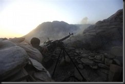 Heavy machine gun positions in the Afghan National Army