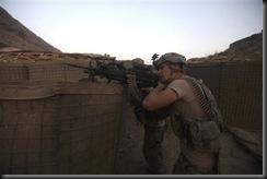 Machine gunner opened fire