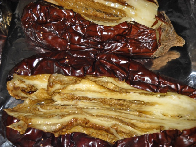 opened eggplant