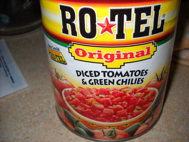 rotel (tomatoes with chiles)