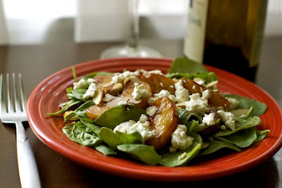 Almond Peach Salad