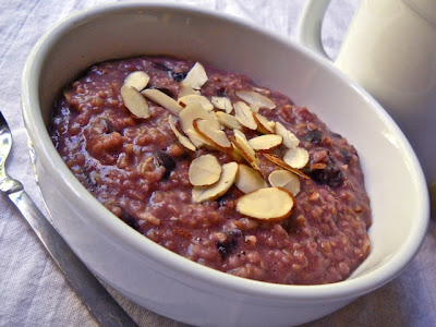 Cherry Almond Steel Cut Oats - BudgetBytes.com