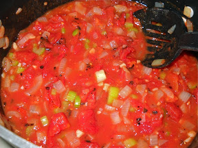 Mexican stew before lentils