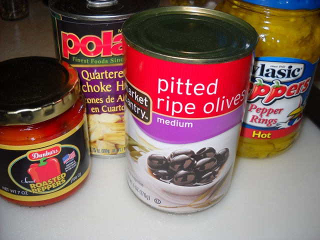 canned vegetables for antipasto