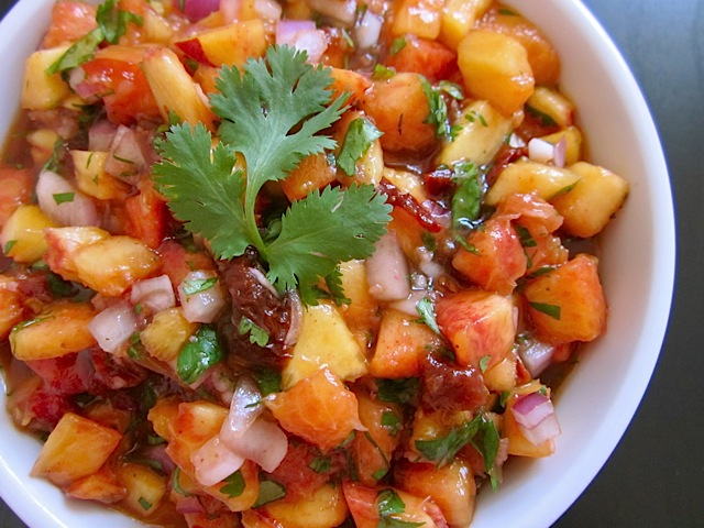 salsa grilled peach and chipotle salsa recept yummly grilled peach and ...