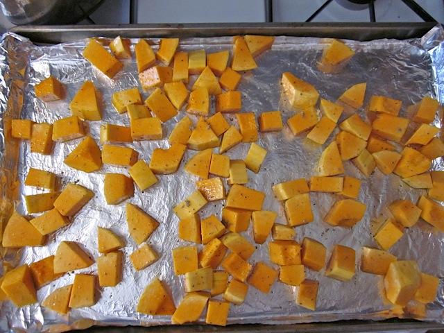 diced seasoned butternut squash
