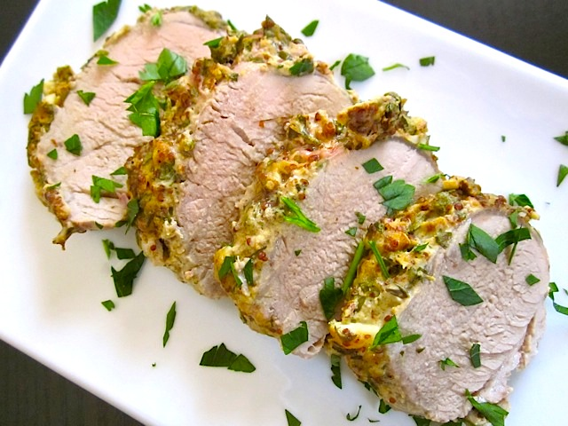herb mustard pork tenderloin